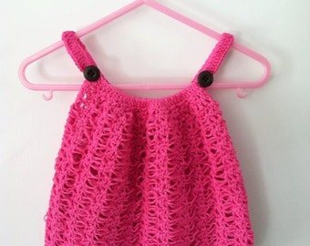 Girls Crocheted Summer Halter Sweater