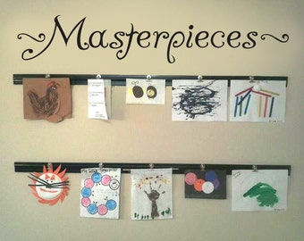 MASTERPIECES Wall Decal Vinyl Wall Sticker For Kids Art Display Quote Children Artist
