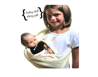 Baby Doll Sling for American Girl Doll, Bitty Baby, and more