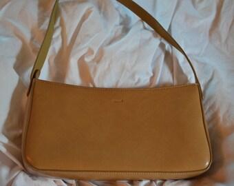 Vintage Beige/Tan Mondani Purse with shoulder strap, minimalist Italian style