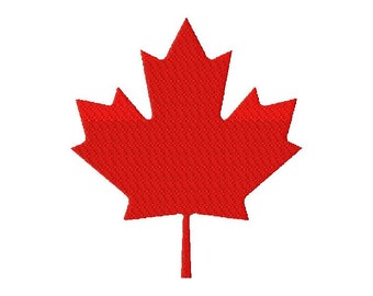 INSTANT DOWNLOAD Canada Maple Leaf Machine Embroidery Design Includes Both Applique and Filled Stitch