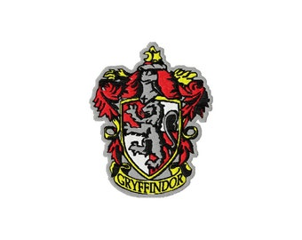 INSTANT DOWNLOAD Harry Potter Detailed Gryffindor Hogwarts House Crest Machine Embroidery Design