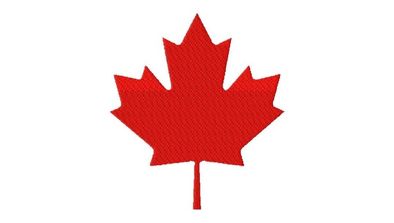 Instant download canada maple leaf machine embroidery design