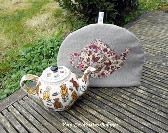 Cover teapot, Teacosy  teapot  linen and liberty
