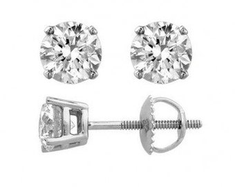 3/4 ct. Round Diamond Stud Earrings