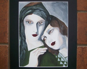 Sisters No. 1 Original Hand Painted by