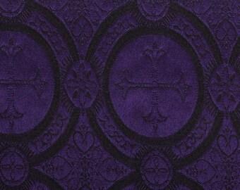 Church fabric black & purple