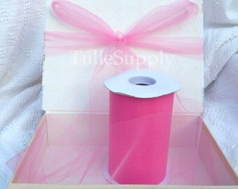 Shocking Pink Tulle Roll, tulle roll, tulle fabric, tulle spool, tutu supply, wholesale tulle, tulle rolls, tutu fabric, tutu supplies