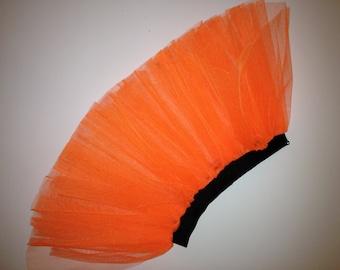 Orange Neon UV Tutu Skirt For Dance Party Ruffled Tulle Skirt adult