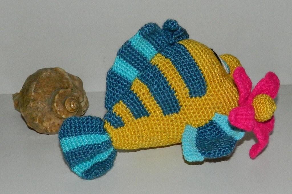Вязание крючком рыбки 33