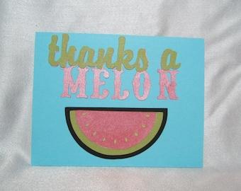 Thank you Friendship Greeting Card-Thanks a Mellon