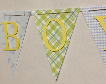 It's A Boy Baby Banner, Baby Shower Decorations, Rattle, Party Decorations