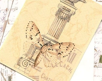 French Collage Blank Note Card