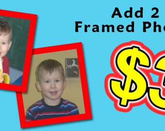 Add 2 Framed Photos to your Personalized T-Shirt