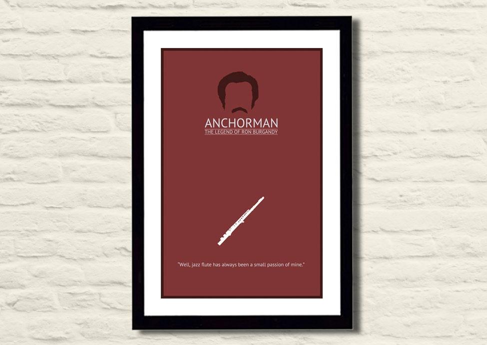 Anchorman Movie Poster Art Print 11 X 17 Modern Poster Home