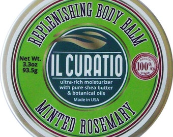 Minted Rosemary Replenishing Shea Butter Body Balm // Salve // Free Shipping