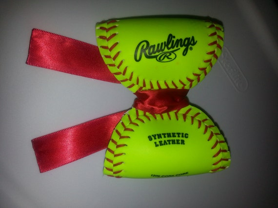 foto de Baseball Bow by allisonbmitchell on Etsy