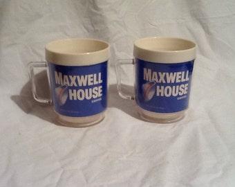 Maxwell House Coffee Cups (2)