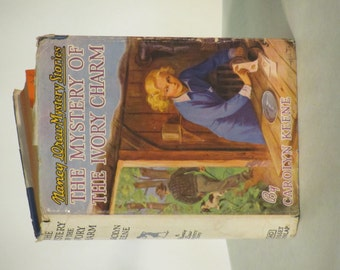 "Vintage 1942 -1943 Nancy Drew Mystery- ""The Mystery of the Ivory Charm"""