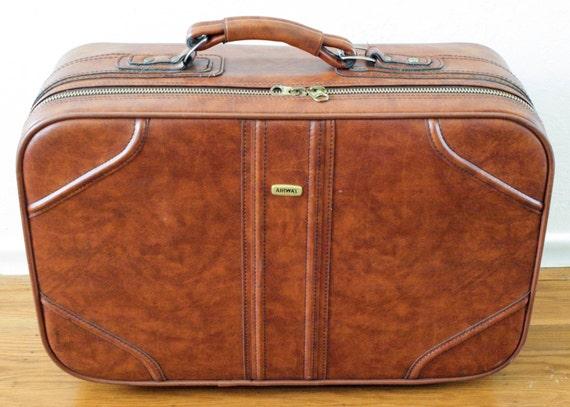 Airway Brown Vintage Retro Luggage Bag Travel Bag Suitcase