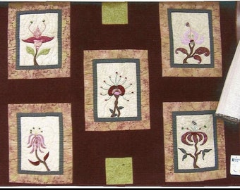 Jody's Fantasy Flowers Wall Hanging Quilt - OOAK
