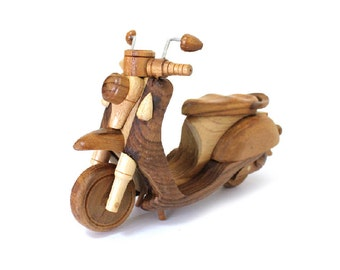 Wooden Toy Motorcycle 02 in Handmade