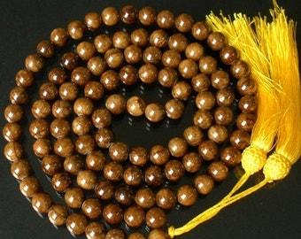 Tibet Brown Coffee Stone 10mm 108 Beads Beaded Buddhism Buddha Prayer Mala Necklace