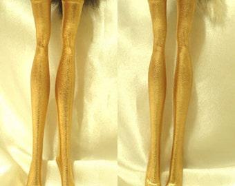 Dolls stockings for Monster high doll   Gold   MH055