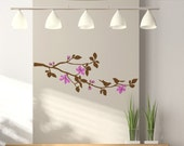 Cherry Blossom Branch Wall Decal, Childs Tree Branch Wall Art Vinyl Decal, size LARGE - Cherry Blossom, Tree Branch Wall Decal