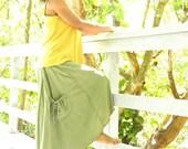 The Freeform Below the knee Skirt in Organic Hemp Jersey. Made to order.