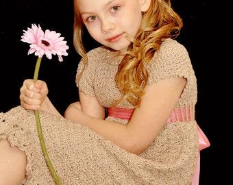 Always A Lady - Crochet Pattern Sundress and Flower pattern, Sizes 12 mos - girls size 14