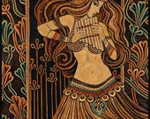 Syrinx - Pan's Lover Pagan Goddess Art 5x7 Greeting Card