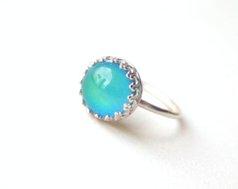 Mood Ring, Medium Crown Sterling Silver