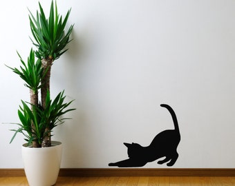 Playful Kitten Silhouette Wall Decal