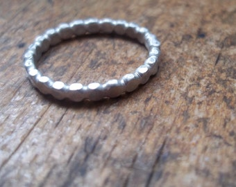 Simple band of Dots - Sterling Silver