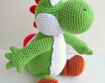 Crochet Yoshi : Yarn Yoshi Plush Amigurumi Doll Lar ge version ...