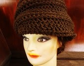 Crochet Pattern, Womens Crochet Hat Pattern, Womens Hat, Turban, DEITRA Beanie Hat Crochet Pattern