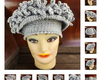 Crochet Pattern Hat,  Womens Hat Pattern,  Womens Crochet Hat Pattern,  Linda 1920s Cloche Hat Pattern with Fringe Hat