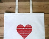 XO Heart Tote Bag- Recycled Cotton