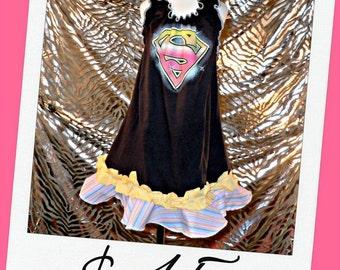 Litttle Girls Dress ButterCream Halter Size 5/6 or 7/8