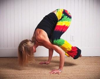 Tie Dye Bob Marley Rasta Hippie Yoga Pant - Festival 420 Dance Tights