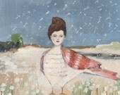 all her wishes would come true - giclee print of original oil painting