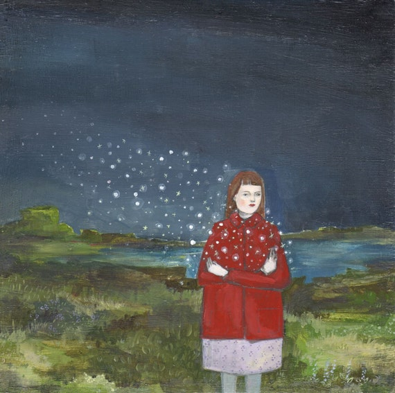 the stars were hers - limited edition giclee print of original oil painting
