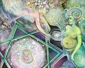 "9""x12"" Eco Art Print - ""Water Birth"" by Ishka Lha"