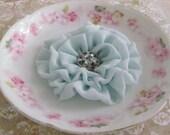 Seafoam Flower Hair Clip.Brooch.Pin.Bridesmaid.Headpiece.Corsage.Chiffon.Seafoam green.seafoam blue.wedding.Soft Mint.Pale Mint.Sea Glass