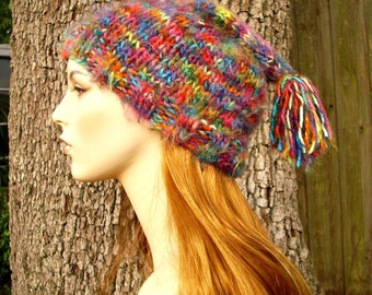 Knit Hat Womens Hat - Toboggan Hat in Metropolis Multicolor Knit Hat - Multicolor Hat Womens Accessories Winter Hat