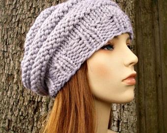 Grey Womens Hat - Original Beehive Beret Hat Pewter Grey Knit Hat - Grey Hat Grey Beret Womens Accessories Fall Fashion Winter Hat