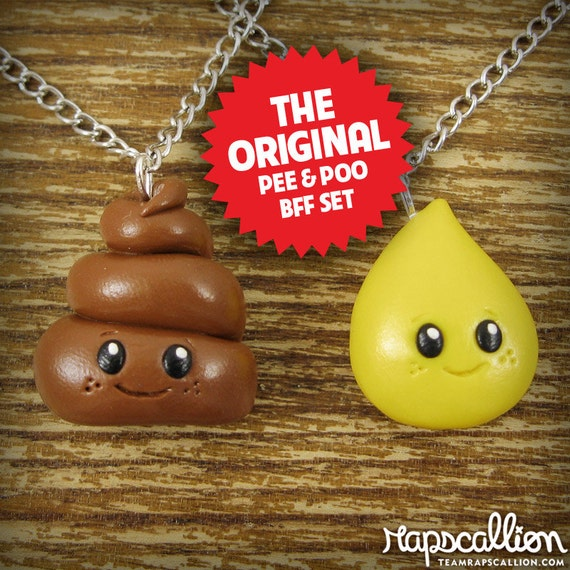 Pee and Poop Best Friends Necklace Set - Tiny