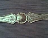 Vintage Brass Stamping. Bracelet Blank. One.  Large.