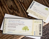 Under the Big Tree - Boarding Pass Wedding Invitation - Design Fee